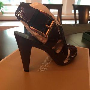 Michael Kors merlot patent sandals